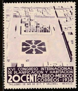MEXICO C86, 20¢ PLANIFICATION CONGRESS, UNUSED, H OG. F-VF