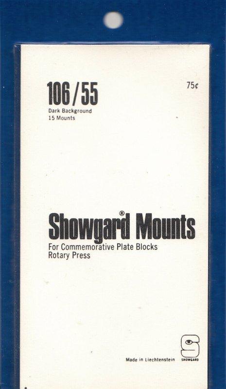 SHOWGARD 106/55 (20) BLACK MOUNTS RETAIL PRICE $8.35
