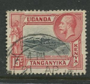 Kenya & Uganda - Scott 49 - KGV Definitive -1935 - FU - Single 15c Stamp