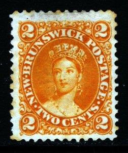 NEW BRUNSWICK CANADA Queen Victoria 1863 2 Cents Deep Orange SG 12 MNG