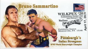 20-055, 2020, Pittsburgh's Italian Strong Man, Pictorial Postmark, Event Cover,