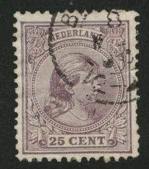 Netherlands Scott 48 used 1894 issue CV$6