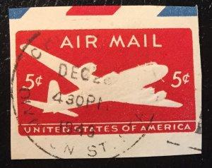 UC14 or UC15 ? Used Airmail Cutout 5c - 1949 Cancel
