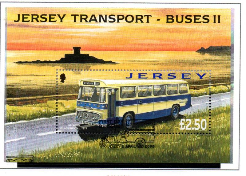 Jersey Sc 1317 2008 Buses stamp sheet used