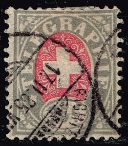 Switzerland Stamp Swiss Cross - Inscription TELEGRAPHIE used stamp