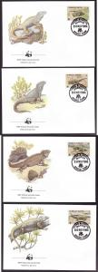 World Wildlife Federation(WWF)-set of First Day Covers-Groun