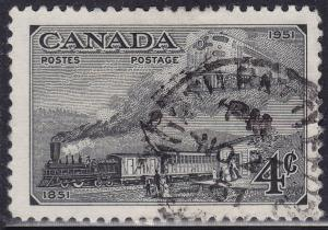 Canada 311 USED 1951 Postage Stamp Centenary 4¢