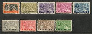 Nyasaland Prot Sc#39-46 M/H/VF, Complete Set, Cv. $49.50