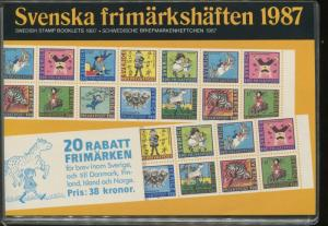 1987 Sweden Swedish Official Booklet Postage Stamp Yearset Collection Svenska