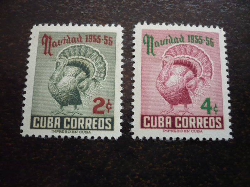 Stamps - Cuba - Scott# 547-548 - Mint Hinged Set of 2 Stamps