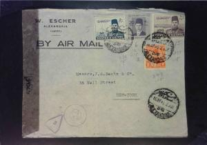 Egypt 1945 Censored Cover to USA (Creased) - Z1599
