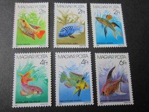 Hungary 1987 Sc 3025-57 fish set MNH