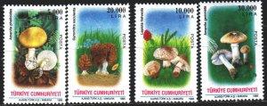 Turkey. 1995. 3063-66. Mushrooms. MNH.