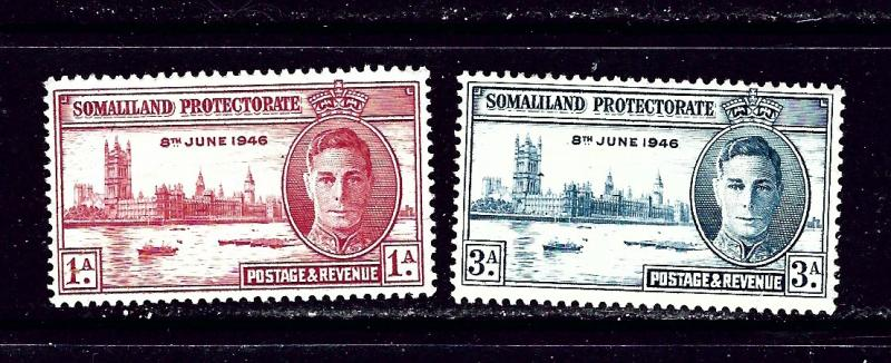 Somaliland 108-09 MH 1946 Peace Issue