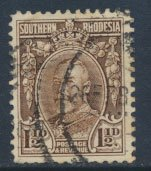 Southern  Rhodesia  SG 16c  SC# 18b   Used - perf 12   see scan and detail