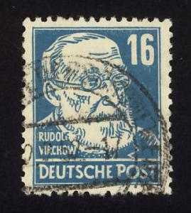 Germany-Russian Zone Sc# 10N35  Rudolf Virchow cancelled