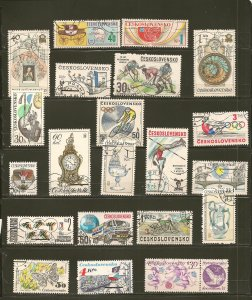 Czechoslovakia Collection of 21 Different 1970's-1980's Stamps CTO