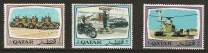 Qatar  (1969)  - Scott # 172 - 174,  MNH