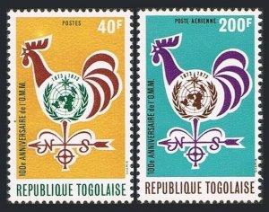 Togo 852.C204,MNH.Michel 997-998. Meteorological Cooperation-100.WMO-1973.