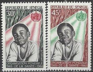 Senegal  308-9  MNH  UN WHO 20th Anniversary