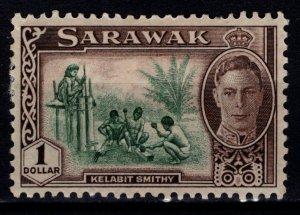 Sarawak 1950 Definitive $1 Kelabit Smithy [Unused]