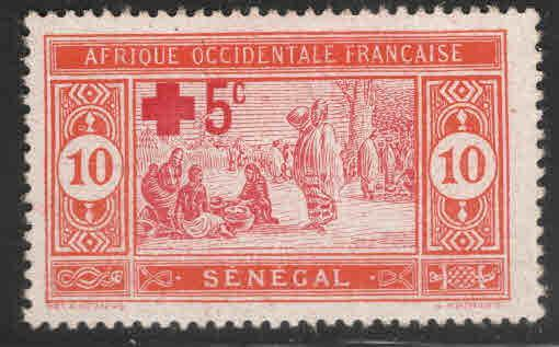 Senegal Scott B1 MNH** Red Cross stamp 1915