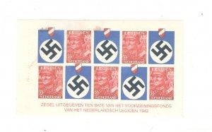 NETHERLANDS UNDER GERMAN OCCUPATION POSTER STAMP, FULL SHEET