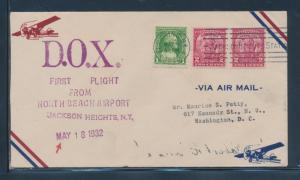 DOX MAY 19,1932 FLIGHT COVER TO U.S.A. BU6263