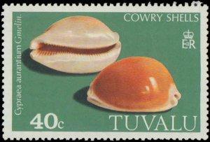 Tuvalu #129-132, Complete Set(4), 1980, Seashells, Never Hinged