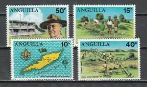 Anguilla, Scott cat. 4095-98. Boy Scouts 40th Anniversary issue. LH *
