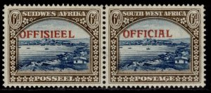 SOUTH WEST AFRICA GVI SG O27, 6d blue & brown, M MINT.
