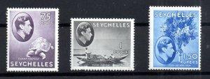 Seychelles KGVI 1938 1R, 1.5R mint MNH SG145A-147 WS16598