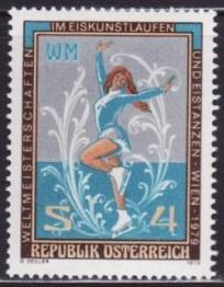 Austria #1113 F-VF MNH ** Figure skating