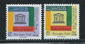 Kuwait 339-40 1966 20th UNESCO set MLH
