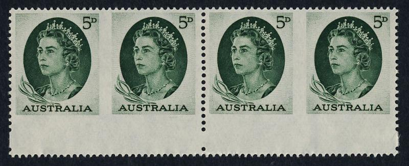Australia 365b bottom strip of 4 MNH Queen Elizabeth