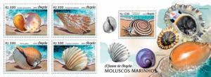 Z08 ANG18101ab ANGOLA 2018 Marine shells of Angola 4v MNH ** Postfrisch