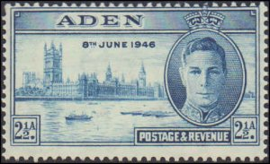 1946 Aden #28-29, Complete Set(2), Never Hinged