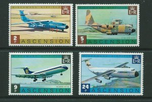 ASCENSION SG187/90 1975 WIDEAWAKE AIRPORT MNH