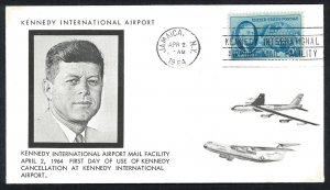 U.S.A. First Day of use of KENNEDY Cancellation at Kennedy Intl' Airport Cover