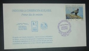 A) 1998, MEXICO, GOLDEN EAGLE, FDC, UNITED FOR THE PROTECTION OF NATURE, XF