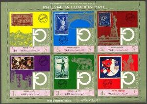 {Y072} Yemen 1970 Olympics Philympia London stamps sheet MNH Mi.1209/14 7,00Eur