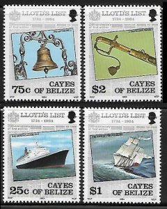 1984 Cayes of Belize 10-13 Ships 6,00 €