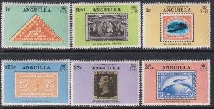 1979 Anguilla Sir Rowland Hill complete set MNH Sc# 349 / 354 CV: $2.25