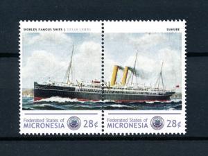 [90660] Micronesia  Ships Danube Ocean Liners Royal Mail Pair MNH