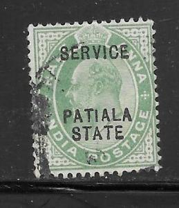 India Convention States Patiala #O20 Used Single