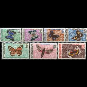 NEW CALEDONIA 1967 - Scott# 357-60+C Butterflies Set of 7 LH