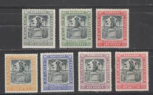 Barbados 1906 Nelson Centenary Issue Scott # 102 - 108 MH