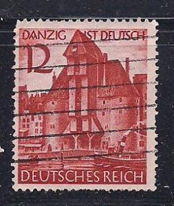 Germ. Sc 493 Danzig ist Deutsch (German) Used L39