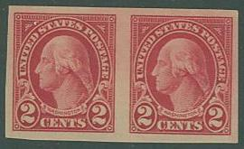 USA SC# 577 Washington 2c Imperf PAIR,  MNH
