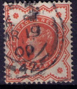 Great Britain Sc #111 1/2p Vermilion Very Fine